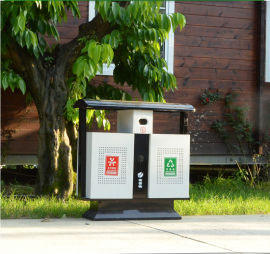 优质分类垃圾箱 镀锌板垃圾箱 果皮箱