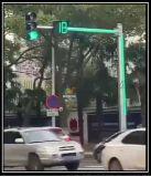 新型红绿灯 整个灯杆都在发光!再也不怕闯红灯了