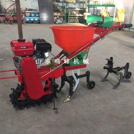小型履带汽油播种机,施肥开沟链轨播种机