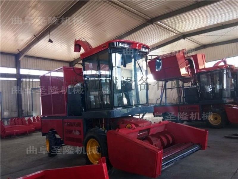 秸秆自走式收割机 四轮车动力秸秆青储机生产厂家