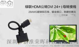 极力DVI转HDMI转接头 投影仪输出连接