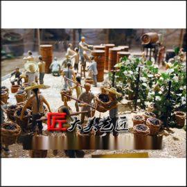 酿葡萄酒雕塑酒窖工艺流程摆件