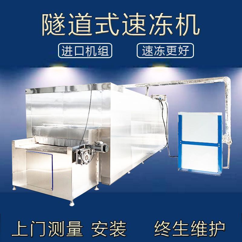 大型隧道式速冻机 肉类面食海鲜蔬菜速冻机