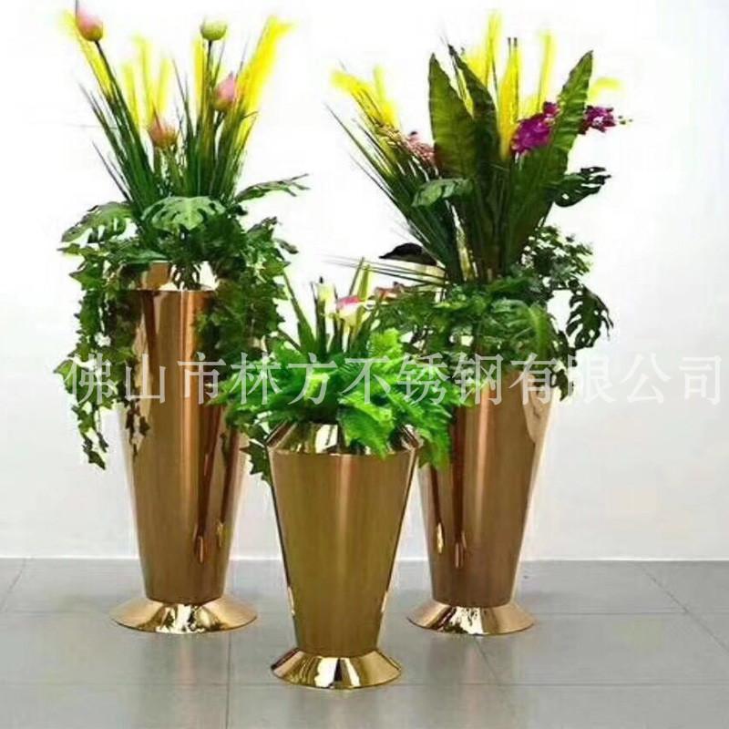 广州酒店花盆指定加工厂,钛金不锈钢花盆,不锈钢本色花盆加工,镜面不锈钢花盆,不锈钢制品加工定做