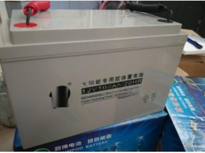 劲博12V100AH太阳能专用胶体 JP-HSE-100-12免维护带引线蓄电池