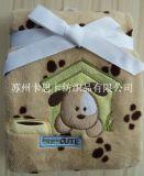 珊瑚絨繡花童毯 嬰兒繡花毛毯 外貿毛毯