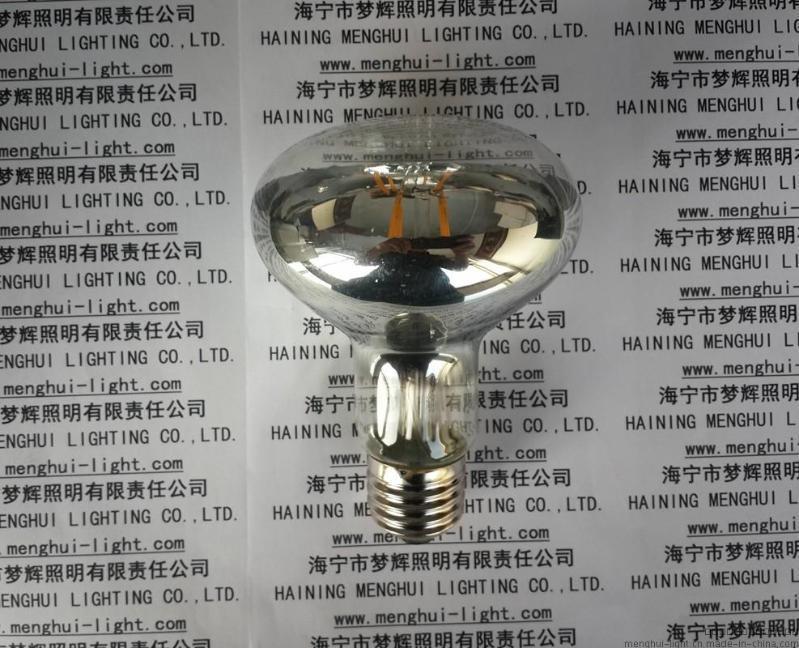 新品LED灯丝灯泡R80反射型E27透明 4W