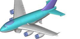玩具飞机模型抄数设计