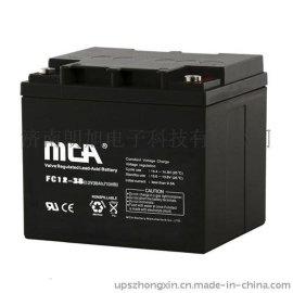 MCA12v38AH蓄电池直流屏免维护铅酸蓄电池