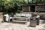米兰系列编藤花园客厅家具桌椅 编藤花园沙发组合