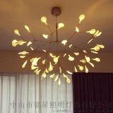 moooi后现代简约别墅客厅餐厅灯 北欧创意个性艺术叶子设计师吊灯