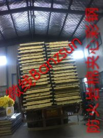 江西南昌三之鑫厂家供应950 980型岩棉彩钢夹心板
