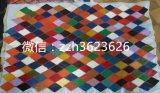 菱形拼皮 驳皮 箱包皮革 头层绵羊皮拼接 原浆皮 炫彩色 批发