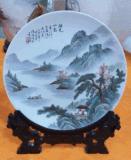 加工装饰陶瓷盘子加工厂定制陶瓷盘子挂盘私人定做瓷器陶瓷画盘子