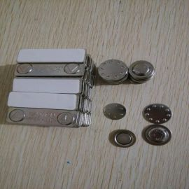 徽章专用磁铁 配进口3M泡棉胶 圆形金属磁性胸牌 工号牌