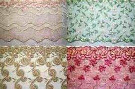 网布条花刺绣