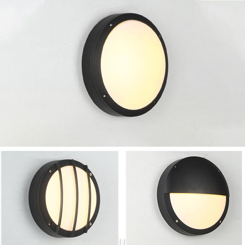 现代 圆形防潮灯 防水吸顶灯 led壁灯 外壳