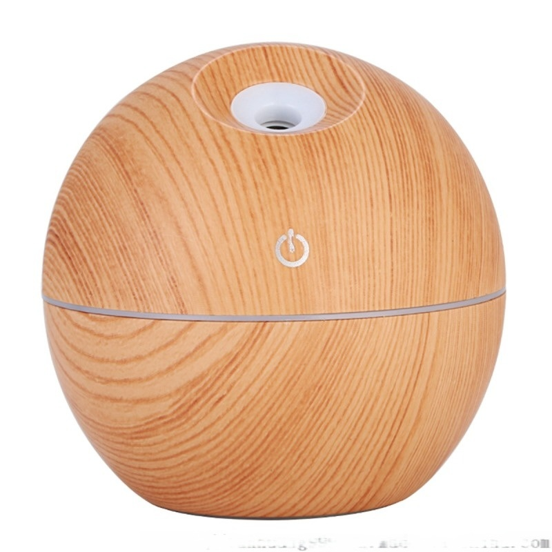 130ml浅木纹礼品静音usb斜喷加湿器