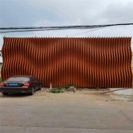 兰州背景墙铝格栅线条 赣州木纹铝型材格栅背景墙