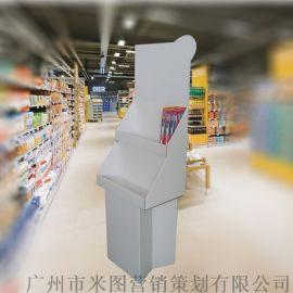 牙刷纸展示架、纸货架、纸陈列架、四色纸端架