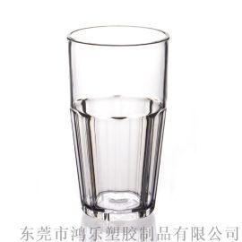 鸿乐塑料杯厂家定制直销16oz透明八角塑料水杯