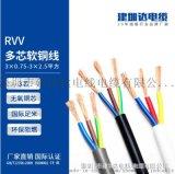rvv線纜銅芯電線電源線防水控制電纜線護套線