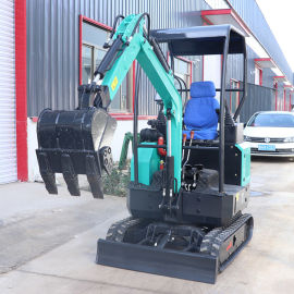 17型农用园林 小型挖土机 建筑工程 微型挖掘机