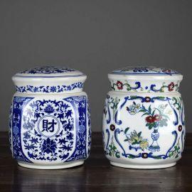陶瓷罐 陶瓷茶叶罐 储物罐 景德镇陶瓷厂家