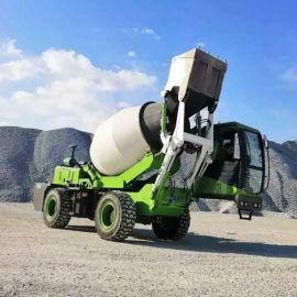 混泥土车上料一体车 自动上料混凝土搅拌车 厂家直销