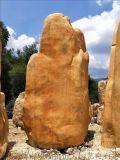 青海大型景觀刻字石 開發區園林景石 麗江景觀黃蠟石
