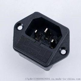 保险丝插座BT-14-F1 锁式品字保险丝电源插座