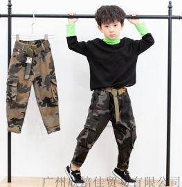 【吉吉】加绒牛仔裤品牌童装尾货折扣分份