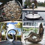 大型水滴圆环镜面园林景观不锈钢雕塑 广州厂家定制