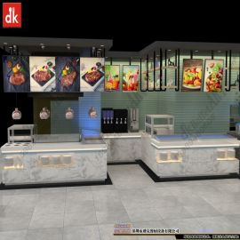 迪克自助餐廳裝修自助餐臺定制設計圖片效果圖