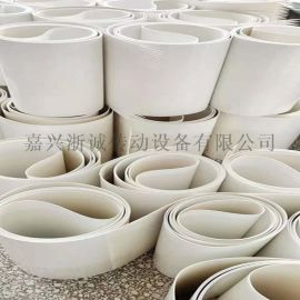 1-5mm白色输送带 环形食品输送带