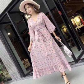 深圳品牌折扣女装波西米亚夏连衣裙拿货渠道