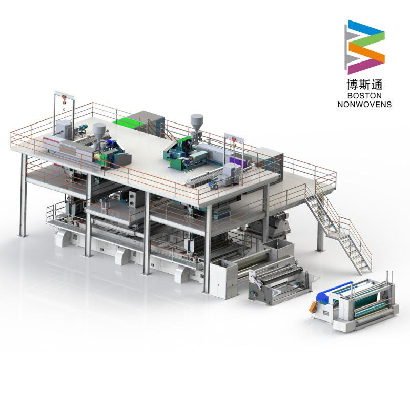 全自动纺粘熔喷布无纺布生产线1.8m