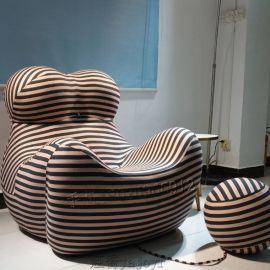 成人款玻璃钢艺术休闲椅母亲椅创意可爱熊猫异型球椅