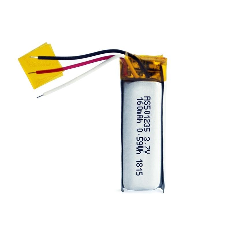 501235 3.7v 160mah蓝牙耳机电池