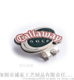 金属帽夹定制供应logo金属帽夹深圳俱乐部帽夹定做