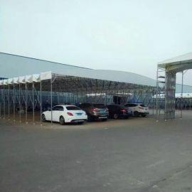 工地施工遮阳蓬停车棚移动雨棚四角广告帐篷折叠