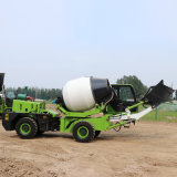 4方新型自上料混泥土搅拌车 小型移动搅拌站