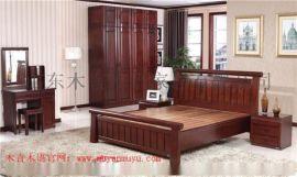 大连木言木语专业定制简约实木双人床