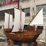 户外木质海盗景观装饰船厂家定制