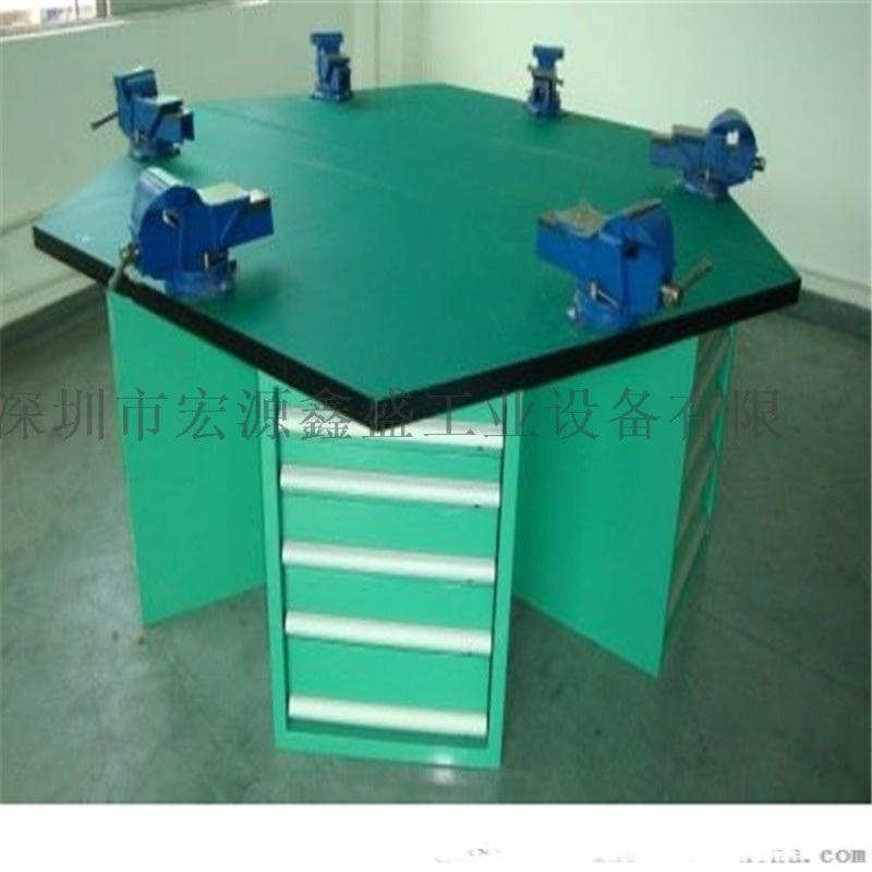 四工位钳工桌,技校学生操作台,结实实用钳工实训台