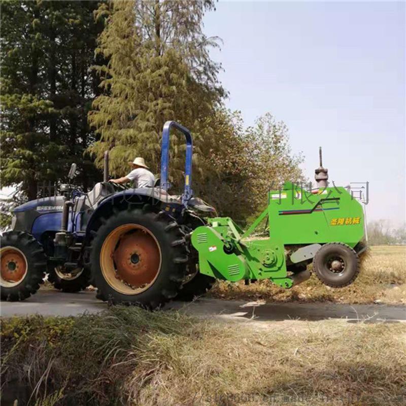 拖拉机带收割粉碎打捆机 秸秆粉碎收割打捆一体机