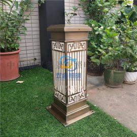 仿雲石電鍍草坪燈雙睿照明定製柱頭燈中式仿古落地燈