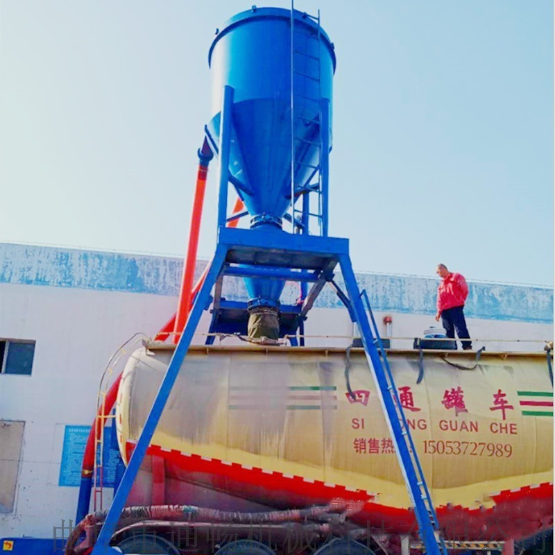钢板库水泥卸料气力输送机自吸无尘抽灰机炉灰粉装车机