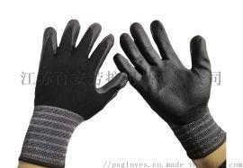15针尼龙氨纶丁腈发泡手套