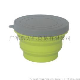 硅胶折叠碗 硅胶折叠碗厂家直销 硅胶食品级折叠碗